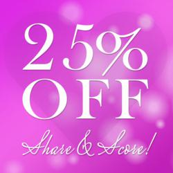 "Lady de Cosmetic's ""Share & Score"" 25% Off Facebook Contest"
