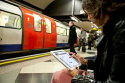 iPad Use in Public London Underground