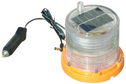 Solar Powered Rechargeable LED Strobe Light w/ Magnetic Base