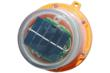 Solar Powered Rechargeable LED Hazard Light w/ Magnetic Base