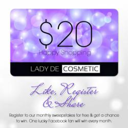 "Lady de Cosmetic's ""Fan of the Month"" Contest"