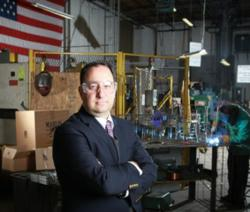 Drew Greenblatt, president of Marlin Steel Wire Products
