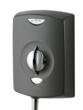 Attractive graphite coloured electric showers