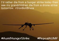 AUMF Hunger Strike #AumfHungerStrike