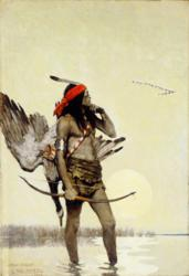 N. C. Wyeth, The Hunter; oil on canvas, 38 7/8 x 26 5/8 in.; collection of the Brandywine River Museum
