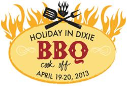 A logo of the Holiday in Dixie BBQ Cook-Off