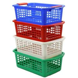 image of Flip-N-Stack Medium Plastic Baskets