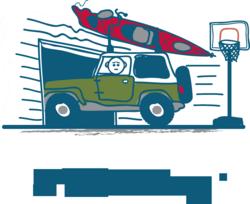 Kayak crashing into garage