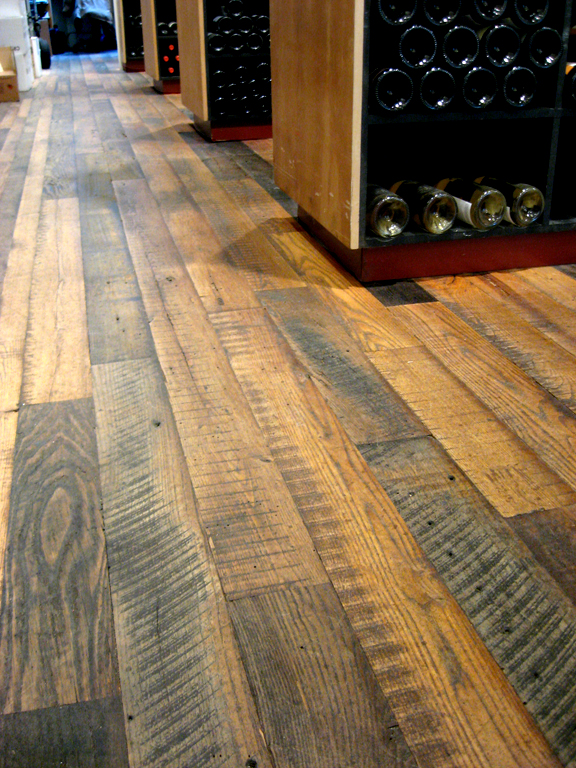 Rough Wood Planks ~ Wide plank reclaimed flooring is now available as pioneer