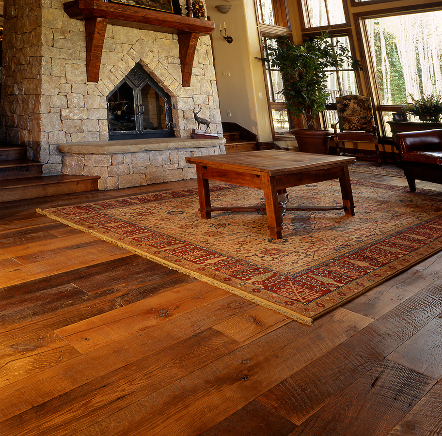 Wide Plank Flooring : Wide plank reclaimed flooring is now available as pioneer