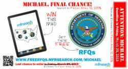 MFR Search provides Free Department of Defense RFQs - www.freeRFQs.MFRSearch.com