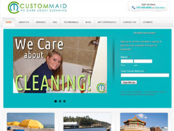 Virginia Beach House Cleaning Company Custom Maid Web SIte