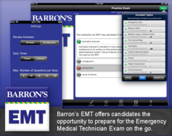 Barron's EMT Exam Review is available in iTunes