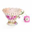 The Sizzix Bigz Tea Cup 3-D Die by Brenda Walton can be crafted into a beautiful personalized gift or favor.