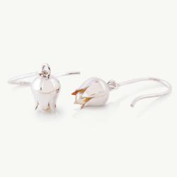 Lily Earrings, Flower Earrings, Brian De Staic, Irish Jewelry, CelticPromise.com