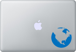 Laptop sticker Globe