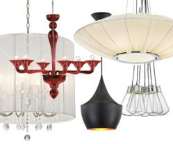 The top 5 style trends for modern chandeliers are energy efficient, colorful, glamorous, black and mid-century