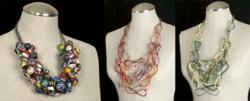 Recycled Plastic Statement Necklaces Handcrafted Jewelry By Jenne Rayburn