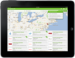 Candidate Job Search View on iPad and Android Tablet App