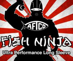 AFTCO Fish Ninja Performance Fishing Sun Shirt