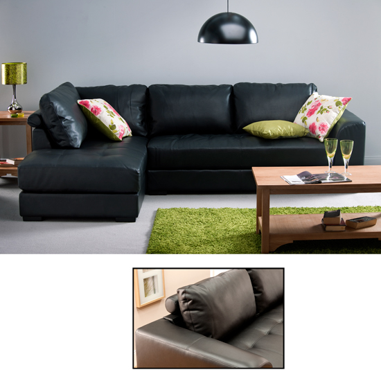 Furnitureinfashion Launches New Exclusive Verona Leather Left Hand Corner Sofa