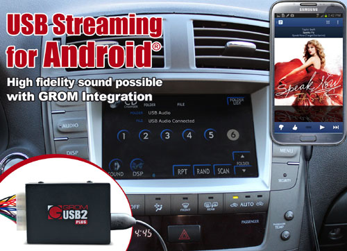 GROM Audio announces USB Audio Streaming support for Android