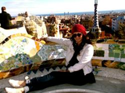 International TEFL Academy TEFL Certificate student Lexi Sabatino enjoys a scene in Barcelona, where she teaches English in Spain