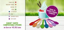 Karat® Earth Compostable Colored Spoons