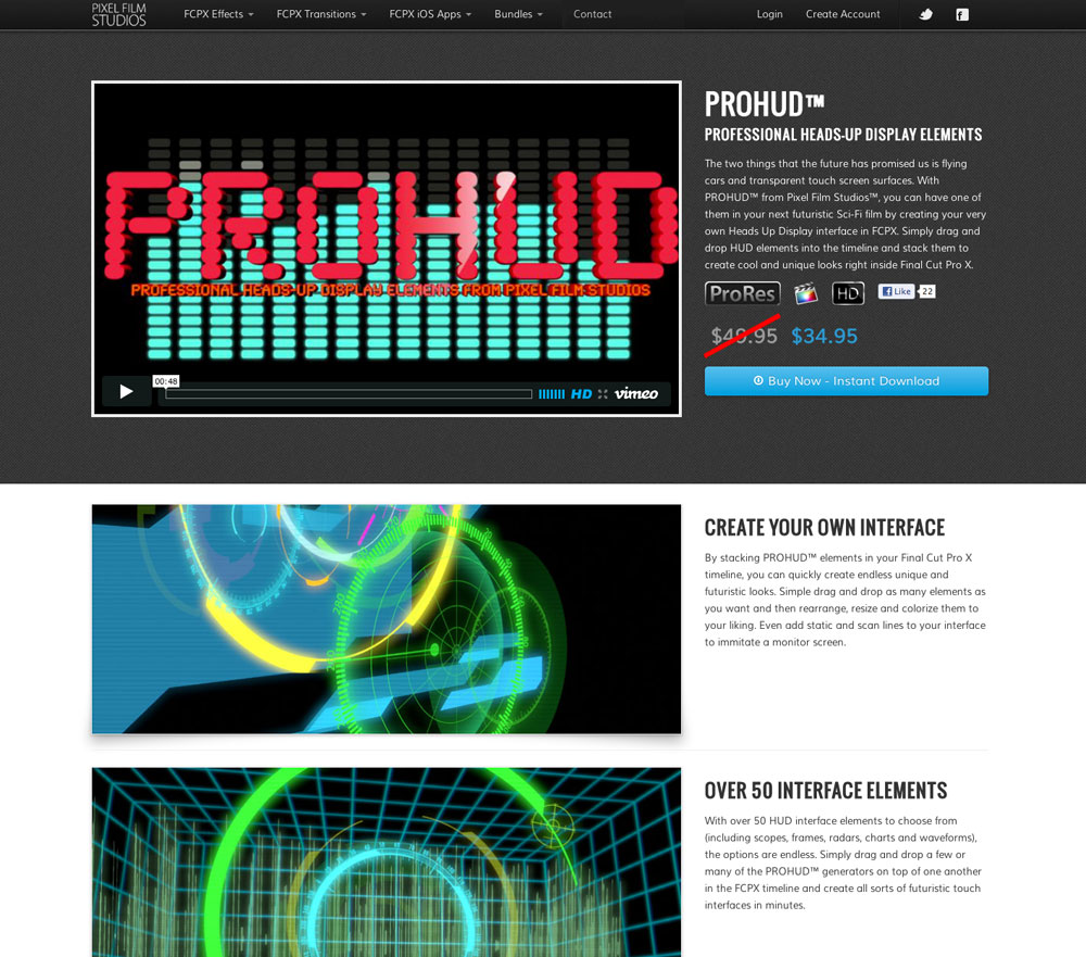 Pixel Film Studios Releases ProHUD Heads Up Display Plugin for Final Cut Pro X Today