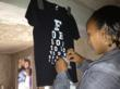 Eye Chart Tee during a Kenya mission.