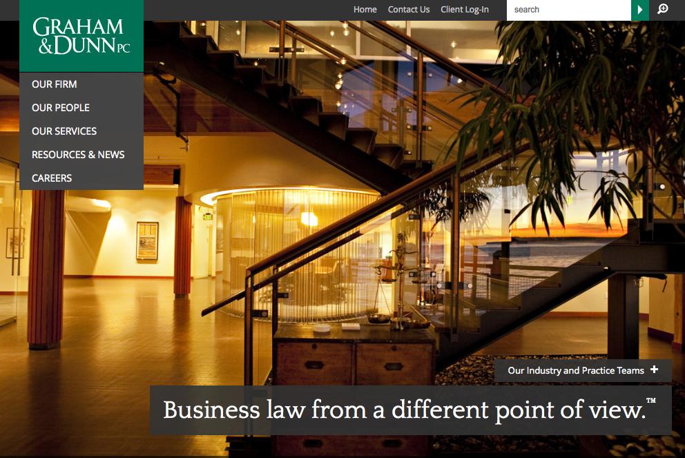 seattle law firm website design receives legal marketing award
