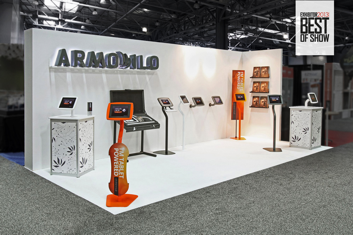 Exhibition Booth Design Award : Armodilo display solutions showcasing award winning tablet