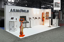 Armodilo iPad Kiosk / Tablet Display Stands at EXHIBITOR 2013