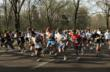 Runners start the road race at the Chickamauga Chase