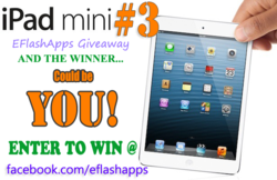 Enter to Win a Free iPad Mini - 12 iPad Mini Giveaway by EFlashApps