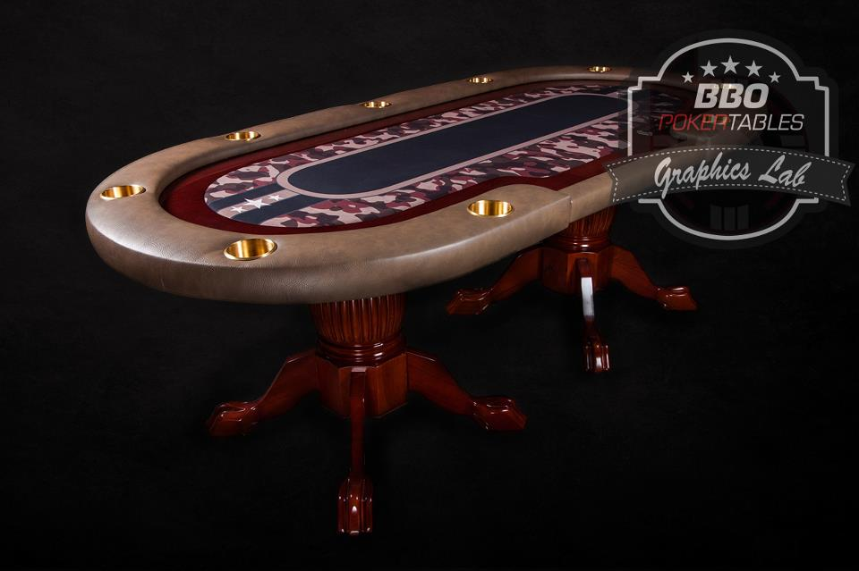 Premier Poker Table By BBO Poker TablesCustomers Can Choose From Over 70  Stock Graphics For Their Home Poker Tables ...