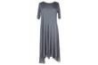 COMFY USA Debra Mesh Asymmetrical Dress in Musk Modal/Mesh