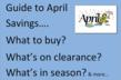 April Monthly Sale Cycle, Buying and Clearance Guide