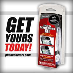 Spray on Screen Repair by Phone Doctors