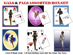 Noir A-Go Go Black Pinup Girl Greeting Cards