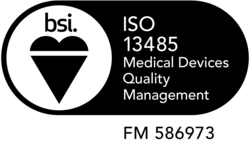ISO 13485 logo with Multi-Tech registered number