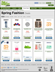 variety of coupons and deep discounts on both everyday ready-to-wear styles  and designer apparel, shoes, and handbags