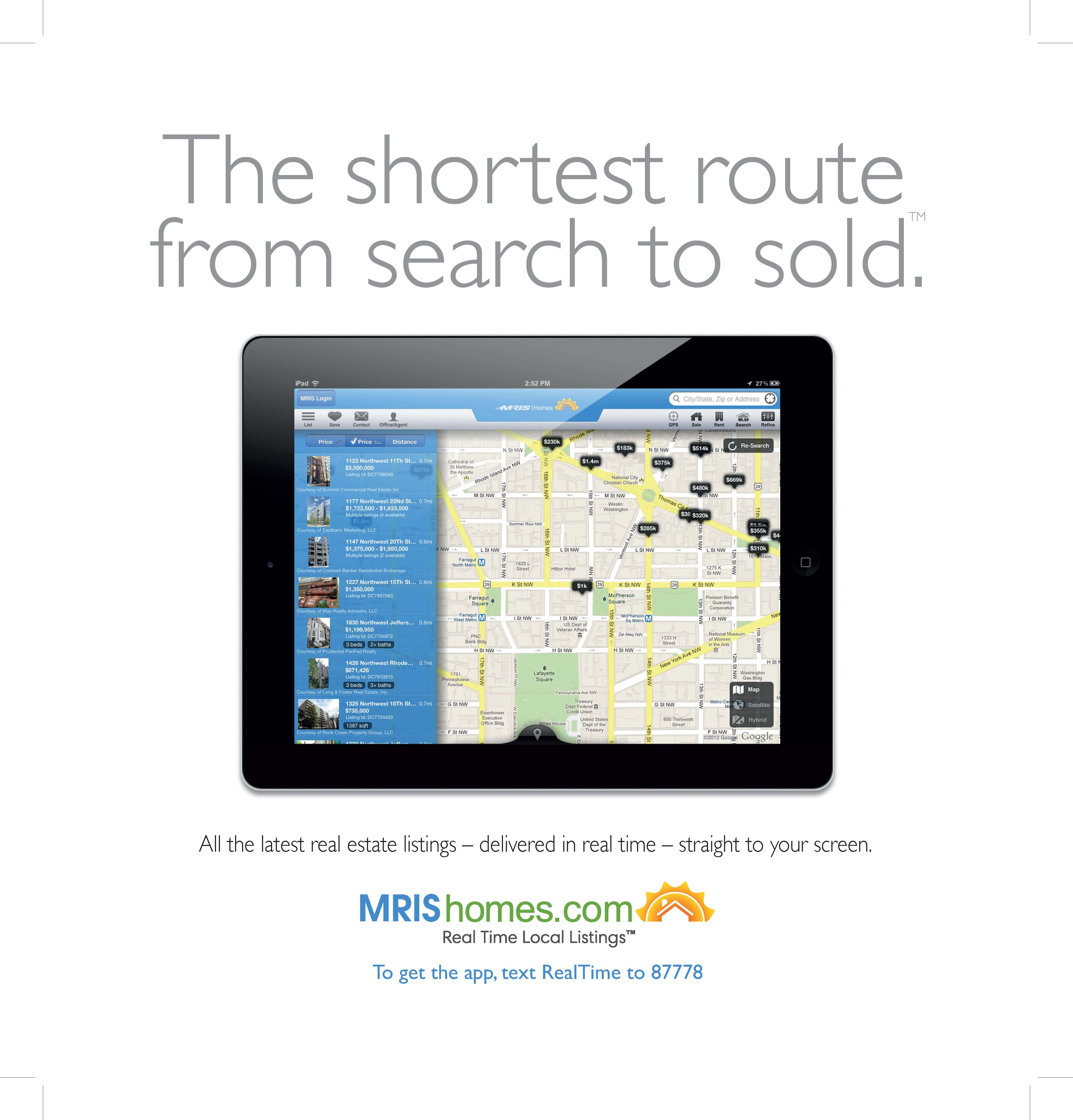 MRIS Brings Real Time Local Real Estate Listings™ With The