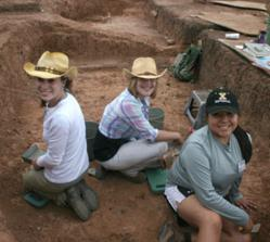 Excavating at the Dillard site.