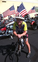 Jeanna Buck on her bike.