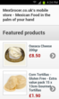 MexGrocer.co.uk - Mexican food & groceries mobile ecommerce leader