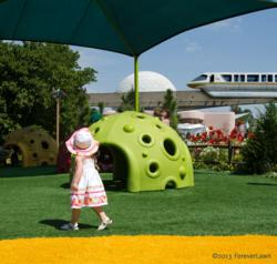 "Playground Grass by ForeverLawn helps create the ""Oz"" interactive play zone"