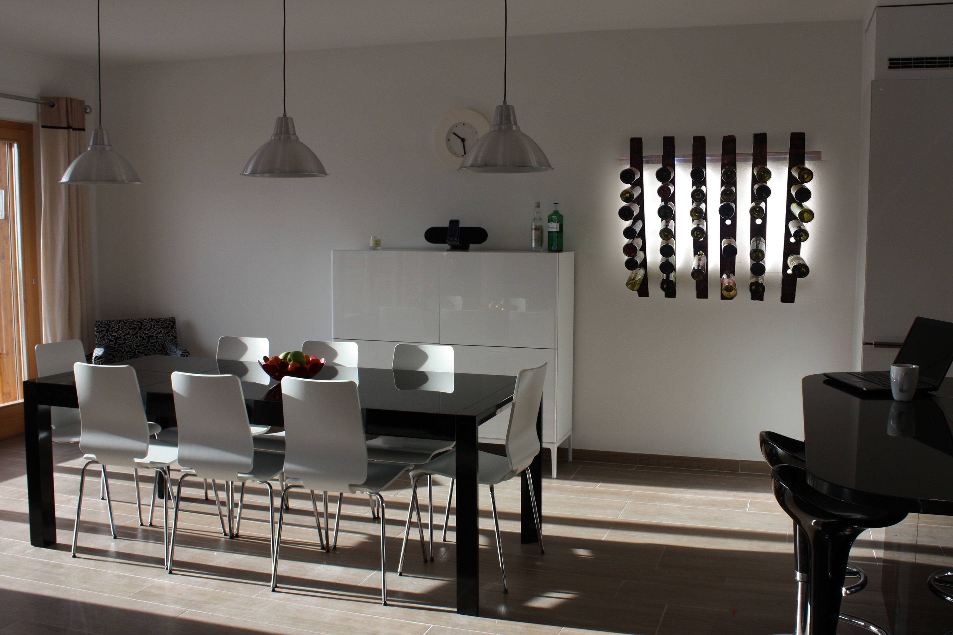 Lumi Wine Wall In The Dining Room