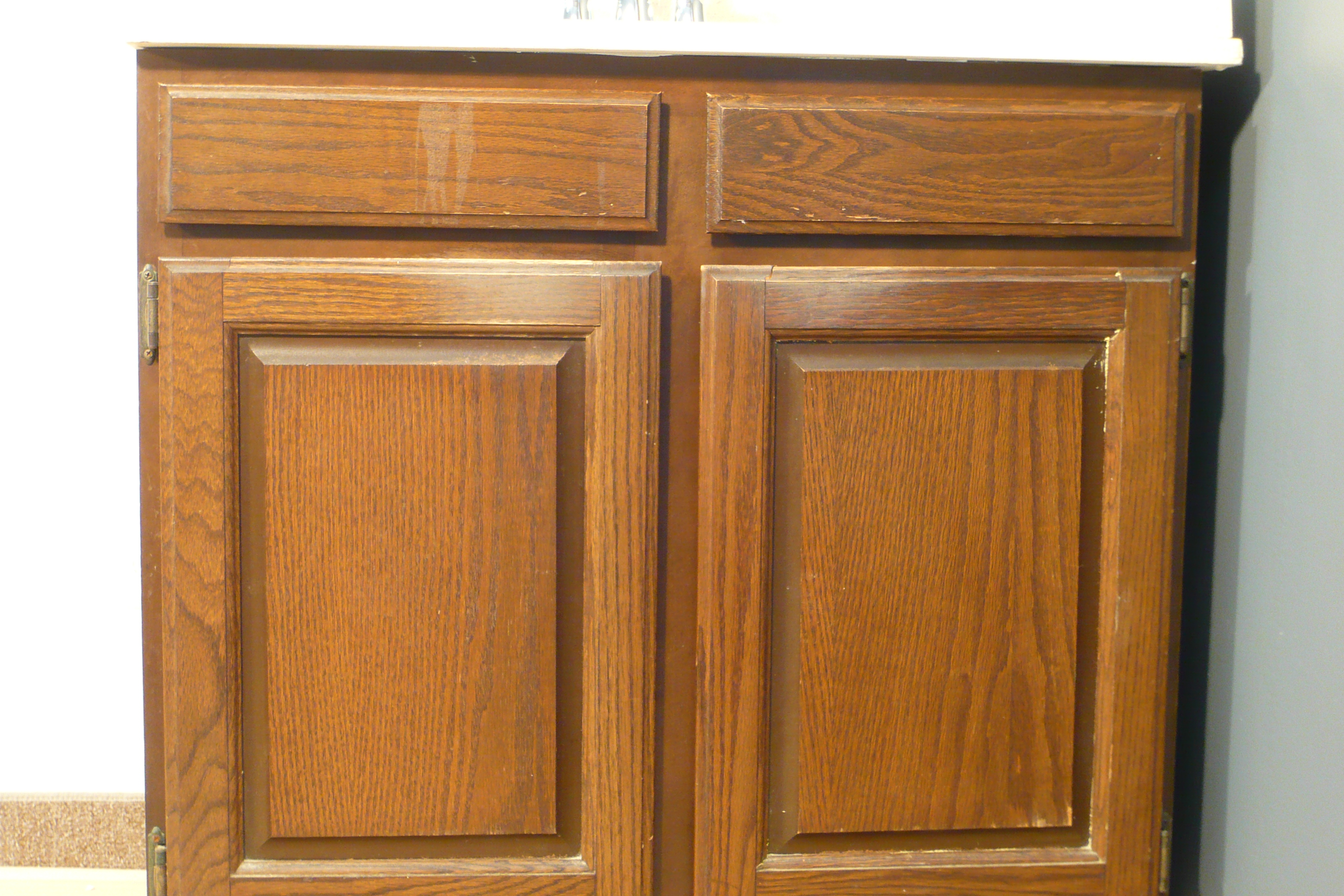 Cabinet re facing kits by wisewood veneer a diy project for Cupboard cabinet