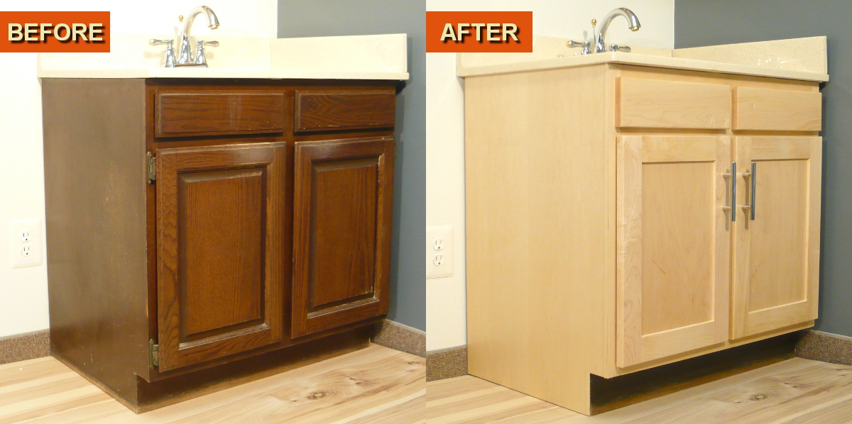 Cabinet re facing kits by wisewood veneer a diy project for Veneer for kitchen cabinets